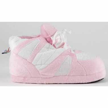 Sneaker sloffen dames roze wit