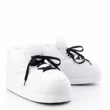 Sneaker sloffen/sloffen voor kinderen wit maat 34/36