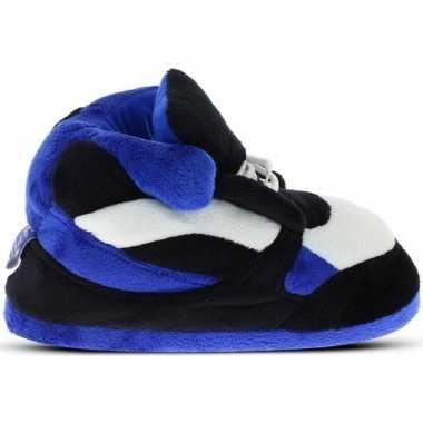 Sneakers sloffen/sloffen blauw/zwart/wit voor heren