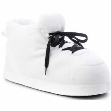Sneakers sloffen/sloffen wit voor dames