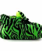 Sneaker sloffen meisjes tijger groen