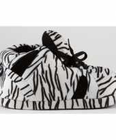 Sneaker sloffen meisjes zebra zwart wit